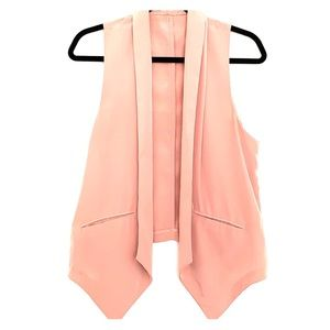 Muted pink vest